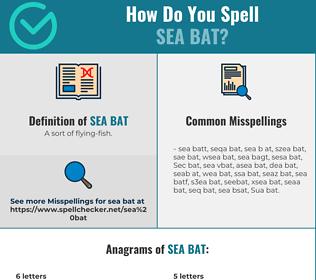 Correct spelling for Sea bat