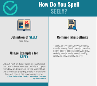 Correct spelling for Seely