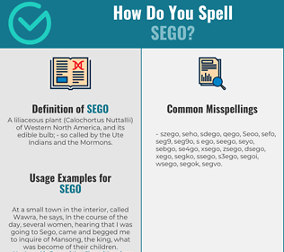 Correct spelling for Sego