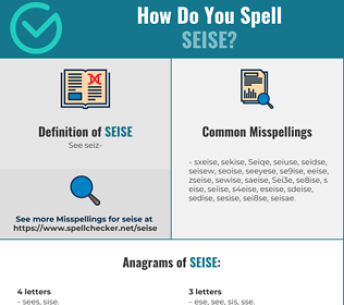 Correct spelling for Seise