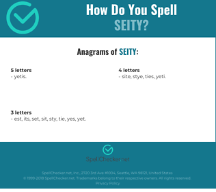 Correct spelling for Seity