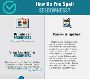 Correct spelling for Seldomness