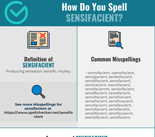 Correct spelling for Sensifacient