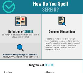 Correct spelling for Serein