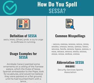 Correct spelling for Sessa