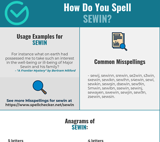 Correct spelling for Sewin