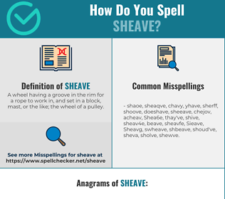 Correct spelling for Sheave