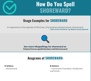 Correct spelling for Shoreward