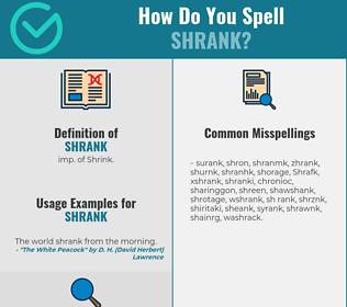 Correct spelling for Shrank