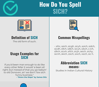 Correct spelling for Sich