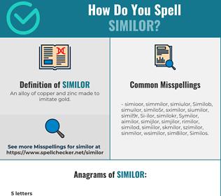 Correct spelling for Similor