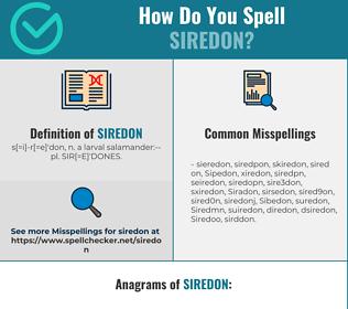 Correct spelling for Siredon