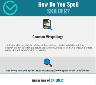 Correct spelling for Skilder