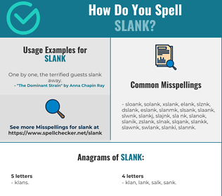 Correct spelling for Slank