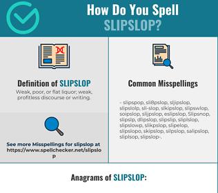 Correct spelling for Slipslop