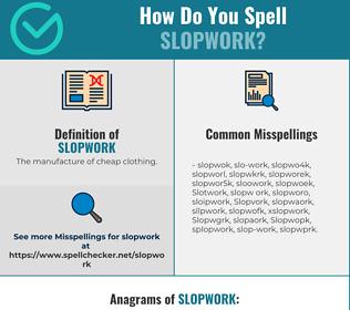 Correct spelling for Slopwork