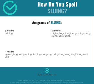 Correct spelling for Sluing