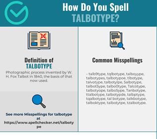 Correct spelling for Talbotype