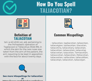 Correct spelling for Taliacotian