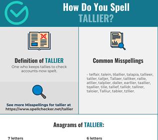 Correct spelling for Tallier