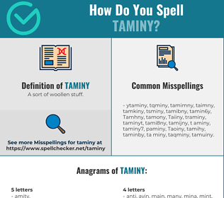 Correct spelling for Taminy