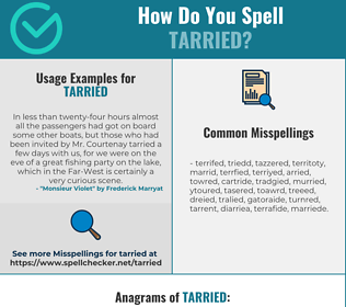 Correct spelling for Tarried