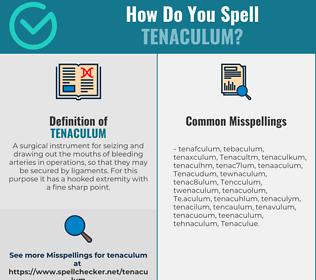 Correct spelling for Tenaculum