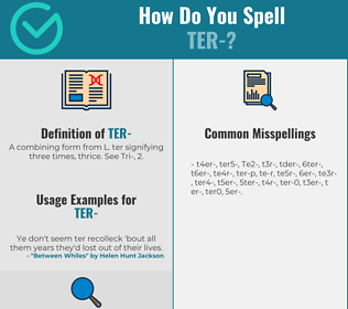 Correct spelling for Ter-