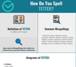 Correct spelling for Tetter
