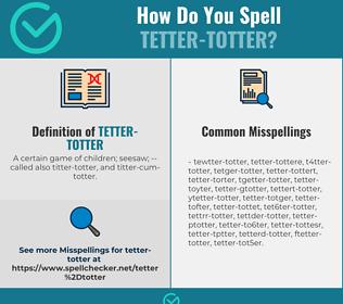 Correct spelling for Tetter-totter