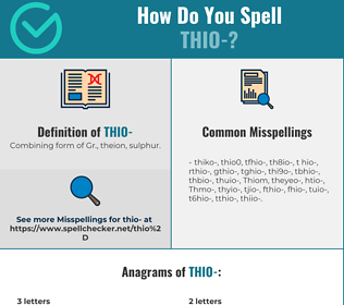 Correct spelling for Thio-