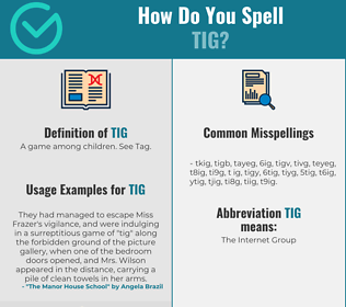 Correct spelling for Tig