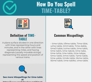 Correct spelling for Time-table