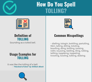 Correct spelling for Tolling
