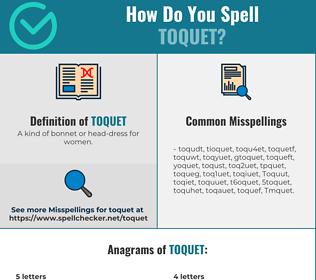 Correct spelling for Toquet