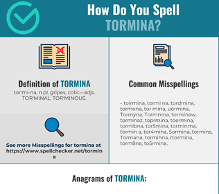 Correct spelling for Tormina