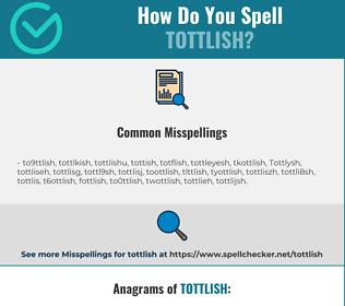 Correct spelling for Tottlish