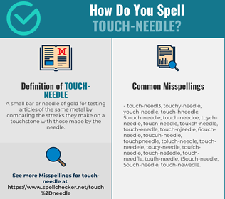 Correct spelling for Touch-needle