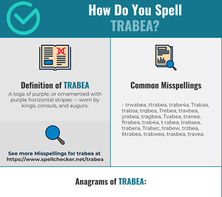 Correct spelling for Trabea