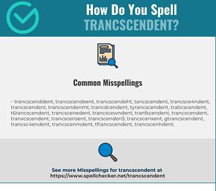 Correct spelling for Trancscendent