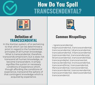 Correct spelling for Trancscendental