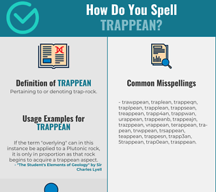 Correct spelling for Trappean
