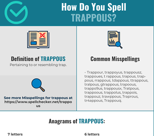 Correct spelling for Trappous