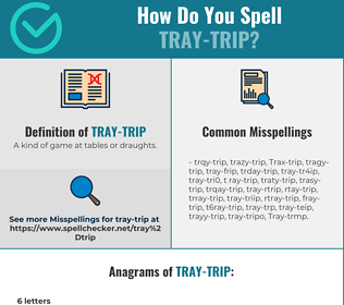 Correct spelling for Tray-trip