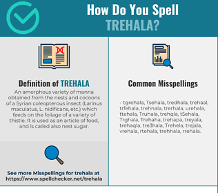 Correct spelling for Trehala