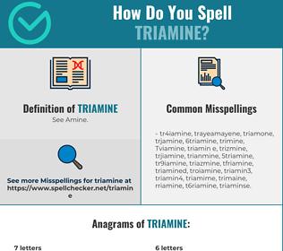 Correct spelling for Triamine