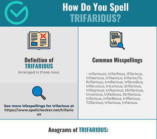 Correct spelling for Trifarious
