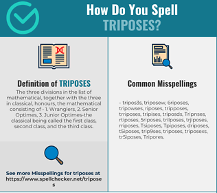 Correct spelling for Triposes