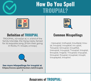 Correct spelling for Troupial