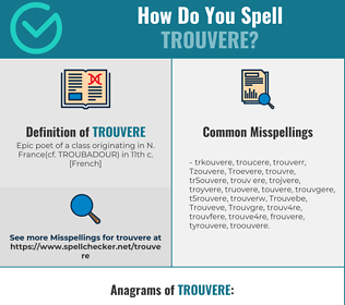 Correct spelling for Trouvere
